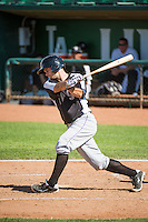 Michael Benjamin (20) of the Grand Junction Rockies at bat against the Ogden Raptors in Pioneer League action at Lindquist Field on July 5, 2015 in Ogden, Utah.  Ogden defeated Grand Junction 12-2. (Stephen Smith/Four Seam Images)