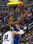 San Jose State forward Michael Steadman (1) shoots over  Nevada forward Cody Martin (11) in the second half of an NCAA college basketball game in Reno, Nev., Wednesday, Jan. 9, 2019. (AP Photo/Tom R. Smedes)