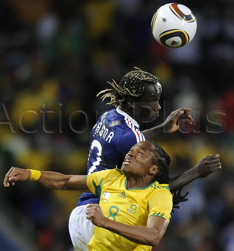 Bloemfontein June 22 2010, South African player Siphiwe Tshabalala fights for ball, Group A, 2010 World Cup match between France and South Africa in Bloemfontein South Africa