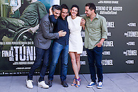 Leonardo Sbaraglia, Rodrigo Grande, Clara Lago and Javier Godino  during the photocall of  Al final del tunel at Warner Bros Espana in Madrid. August 8, 2016. (ALTERPHOTOS/Rodrigo Jimenez) /NORTEPHOTO.COM