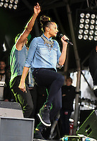 London - Alesha Dixon performs at the Poppy Appeal 2012 Launch concert at Trafalgar Square, London - October 24th 2012..Photo by Mickey Townsend