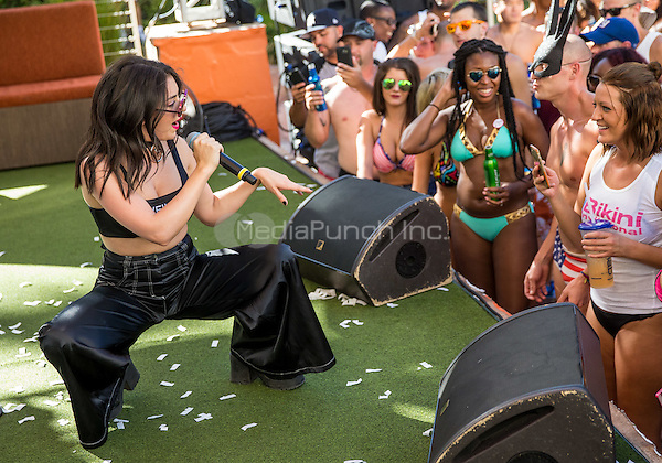 LAS VEGAS, NV - September 20: ***HOUSE COVERAGE*** Charli XCX at Rehab Pool Party at Hard Rock Hotel & Casino in Las Vegas, NV on September 20, 2015. Credit: Erik Kabik Photography/ MediaPunch