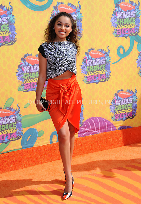 WWW.ACEPIXS.COM<br /> <br /> <br /> March 29,2014, Los Angeles,CA<br /> <br /> <br /> Jaylen Barron arriving at Nickelodeon's 27th Annual Kids' Choice Awards held at USC Galen Center on March 29, 2014 in Los Angeles, California.<br /> <br /> <br /> <br /> By Line: Peter West/ACE Pictures<br /> <br /> ACE Pictures, Inc<br /> Tel: 646 769 0430<br /> Email: info@acepixs.com