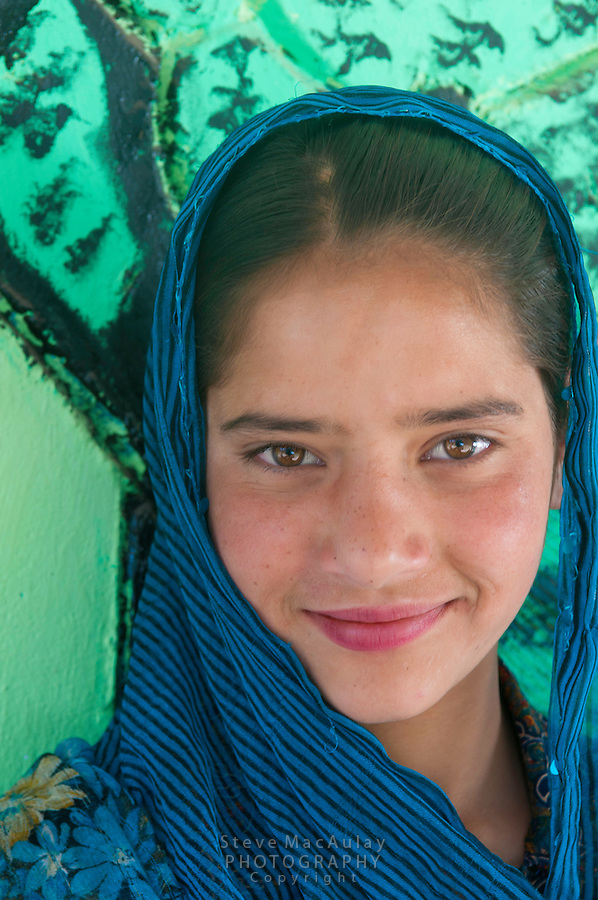 Young girl from a nomadic Bakarwal tribal family, Kashmir, India