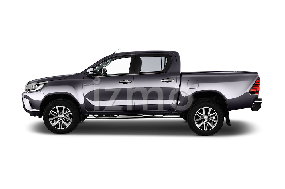 Car Driver side profile view of a 2017 Toyota Hilux Lounge-Double 4 Door Pickup Side View