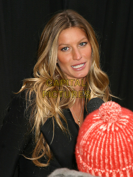 GISELE BUNDCHEN.Launches The New Victoria's Secret IPEX Bra in Times Square, New York, USA, March 1st 2005..portrait headshot long hair extensions  waves wavy .Ref: IW.www.capitalpictures.com.sales@capitalpictures.com.©Capital Pictures.