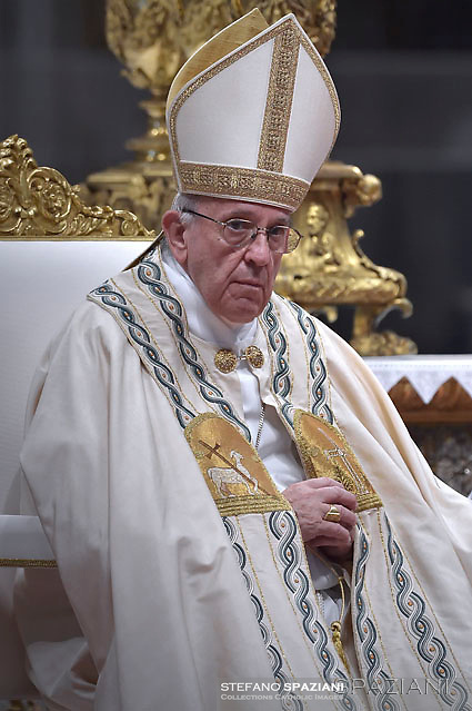 Pope Francis leads a consistory for the creation of five new cardinals  at St Peter's basilica in Vatican.  from countries  : El Salvador, Laos, Mali,Sweden and Spain.<br /> Cardinal Gregorio Rosa Chavez from Salvador;Cardinal Louis-Marie Ling Mangkhanekhoun from Laos;Cardinal Anders Arborelius from Sweden;Cardinal Jean Zerbo from Mali;Cardinal Juan José Omella of Spainon June 28, 2017
