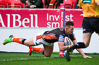 Picture by Alex Whitehead/SWpix.com - 19/03/2017 - Rugby League - Betfred Super League - Salford Red Devils v Castleford Tigers - AJ Bell Stadium, Salford, England - Castleford's Greg Eden scores a try but is disallowed.
