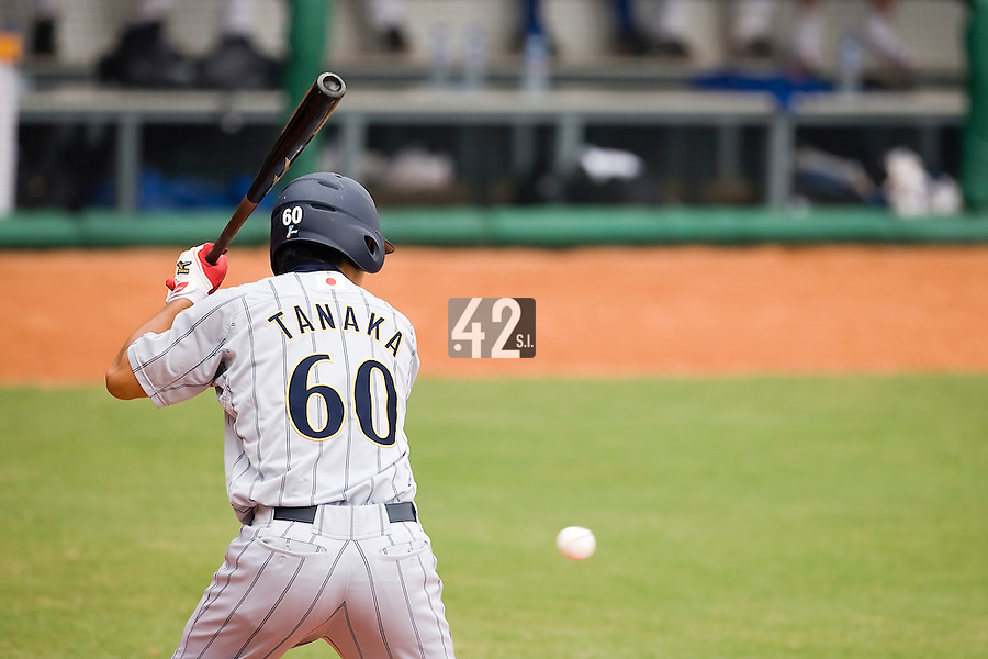 19 August 2007: Right Field #60 Daijiro Tanaka is seen at bat during the Japan 4-3 victory over France in the Good Luck Beijing International baseball tournament (olympic test event) at the Wukesong Baseball Field in Beijing, China.