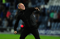 Steve Cooper Head Coach of Swansea City celebrates at full time during the Sky Bet Championship match between Queens Park Rangers and Swansea City at The Kiyan Prince Foundation Stadium in London, England, UK. Wednesday 21, August 2019