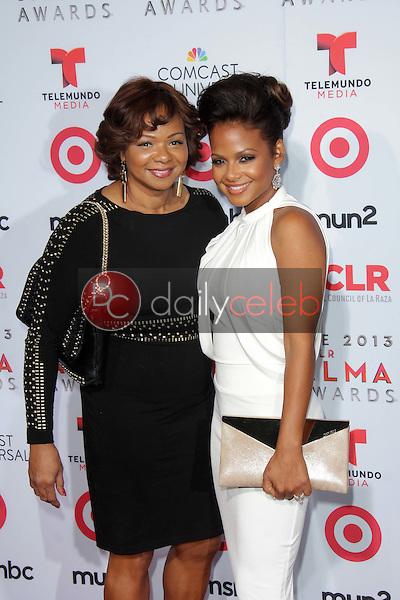 Christina Milian and her mom<br /> at the 2013 NCLR ALMA Awards Arrivals, Pasadena Civic Auditorium, Pasadena, CA 09-27-13<br /> David Edwards/Dailyceleb.com 818-249-4998