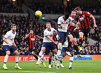 30th November 2019; Tottenham Hotspur Stadium, London, England; English Premier League Football, Tottenham Hotspur versus AFC Bournemouth; Dan Gosling of Bournemouth's header goes wide  - Strictly Editorial Use Only. No use with unauthorized audio, video, data, fixture lists, club/league logos or 'live' services. Online in-match use limited to 120 images, no video emulation. No use in betting, games or single club/league/player publications
