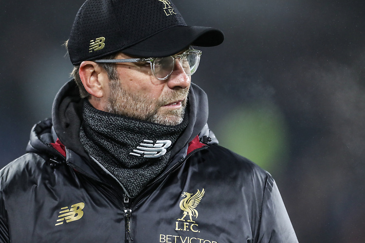 Liverpool's manager Jurgen Klopp <br /> <br /> Photographer Andrew Kearns/CameraSport<br /> <br /> The Premier League - Burnley v Liverpool - Wednesday 5th December 2018 - Turf Moor - Burnley<br /> <br /> World Copyright &copy; 2018 CameraSport. All rights reserved. 43 Linden Ave. Countesthorpe. Leicester. England. LE8 5PG - Tel: +44 (0) 116 277 4147 - admin@camerasport.com - www.camerasport.com