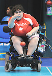 November 16 2011 - Guadalajara, Mexico: Caroline Vietnieks during her Bronze Medal Match in the Multipurpose Gymnasium Revolución at the 2011 Parapan American Games in Guadalajara, Mexico.  Photos: Matthew Murnaghan/Canadian Paralympic Committee