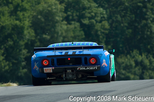 The Renewable Choice Energy Doran Ford GT-R at the Acura Sports Car Challenge at Mid-Ohio, 2008.