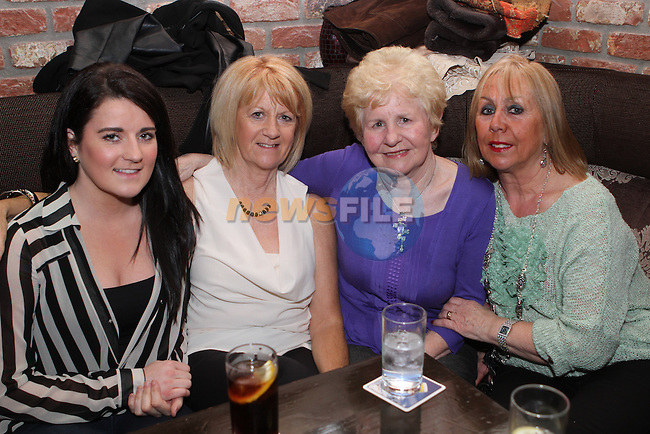 Niamh and Marion Eustace with Annette McKenna and Ann Karincali in the Pheasant...(Photo credit should read Jenny Matthews/NEWSFILE)...