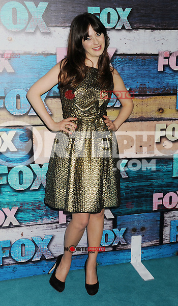 WEST HOLLYWOOD, CA - JULY 23: Zooey Deschanel arrives at the FOX All-Star Party on July 23, 2012 in West Hollywood, California. / NortePhoto.com<br />