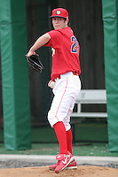 July 4th 2008:  Pitcher Michael Stutes (29) of the Williamsport Crosscutters, Class-A affiliate of the Philadelphia Phillies, during a game at Bowman Field in Williamsport, PA.  Photo by:  Mike Janes/Four Seam Images