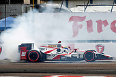 2017 Verizon IndyCar Series - Firestone Grand Prix of St. Petersburg<br /> St. Petersburg, FL USA<br /> Sunday 12 March 2017<br /> Sebastien Bourdais celebrates with donuts<br /> World Copyright: Phillip Abbott/LAT Images<br /> ref: Digital Image lat_abbott_stp_0317_13012