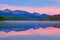 Patricia Lake and the Trident Range, Jasper National Park, Alberta, Canada