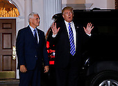 United States President-elect Donald (R) and Vice President-elect Mike Pence (L) leave the clubhouse of Trump International Golf Club, after a day of meetings, November 19, 2016 in Bedminster Township, New Jersey. <br /> Credit: Aude Guerrucci / Pool via CNP
