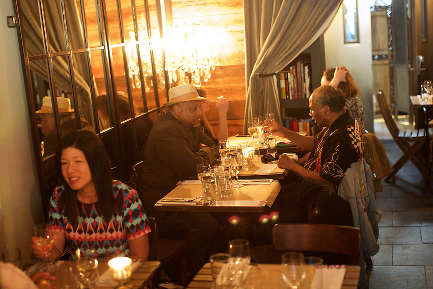 New York, NY - May 20, 2016: A special dinner at Mountain Bird in East Harlem. Hosted by chefs Kenichi Tajima and Andy Ricker, this was one of the many Dine In Harlem meals served during Harlem Eat Up!<br /> <br /> <br /> CREDIT: Clay Williams for Food Republic.<br /> <br /> &copy; Clay Williams / claywilliamsphoto.com