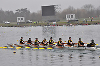 018 HamptonSchBC J14A.8x+..Marlow Regatta Committee Thames Valley Trial Head. 1900m at Dorney Lake/Eton College Rowing Centre, Dorney, Buckinghamshire. Sunday 29 January 2012. Run over three divisions.