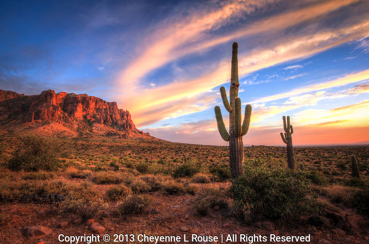 Pastel Sunset  -  Arizona<br /> Lost Dutchman SP