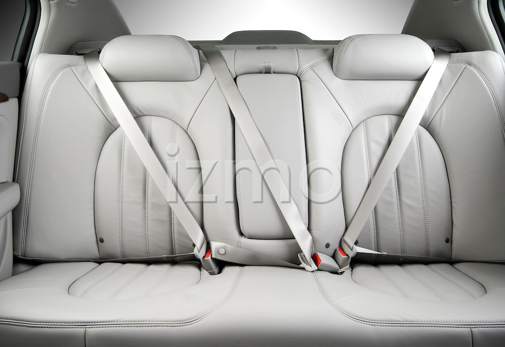 Rear back seats of a Buick Lucerne CXL 2006