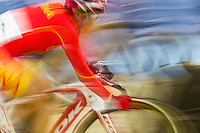 19 FEB 2012 - LONDON, GBR - China's Huang Li (CHN) competing in the Women's Omnium Scratch Race during the UCI Track Cycling World Cup, and London Prepares test event for the 2012 Olympic Games, at the Olympic Park Velodrome in Stratford, London, Great Britain (PHOTO (C) 2012 NIGEL FARROW)