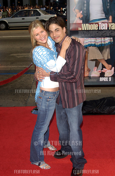 Actress ALISON SWEENEY & actor BRYAN DATILLO at the world premiere, in Hollywood, of The Whole Ten Yards..April 7, 2004
