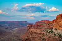 The Neck and evening clouds, Canyonlands National Park, Utah Island in the Sky