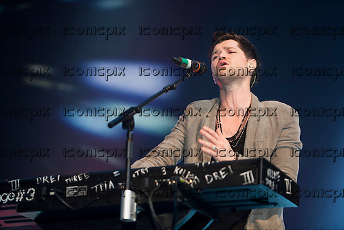 The  Script - vocalist Danny O'Donoghue - performing live at the Motorpoint Arena in Cardiff Wales UK - 19 Mar 2013.  Photo credit: Daniel Mackie/Music Pics Ltd/IconicPix