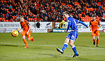 20.3.2018: Dundee Utd v Queen of the South<br /> Kyle Jacobs scores goal no 2 for QoS from the spot