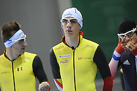 SCHAATSEN: SALT LAKE CITY: Utah Olympic Oval, 12-11-2013, Essent ISU World Cup, training, Bart Swings (BEL), ©foto Martin de Jong