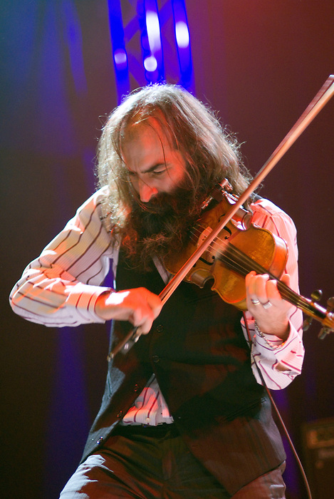 Dirty Three[Warren Ellis pictured] performing live at Ten Years of All Tomorrow's Parties at Butlins in Minehead. 12 December 2009.