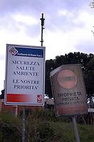 Roma, Marzo 2008.Malagrotta, Pisana.Raffineria di Roma.sicurezza, ambiente, salute.Rome, March 2008.Malagrotta, Pisana.Rome Refinery.safety, environment, health.