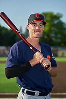 Connecticut Tigers Ryan Kreidler (12) poses for a photo before a NY-Penn League game against the Auburn Doubledays on July 12, 2019 at Falcon Park in Auburn, New York.  Auburn defeated Connecticut 7-5.  (Mike Janes/Four Seam Images)