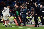 Real Madrid's coach Santiago Solari during Copa Del Rey match between Real Madrid and CD Leganes at Santiago Bernabeu Stadium in Madrid, Spain. January 09, 2019. (ALTERPHOTOS/A. Perez Meca)