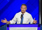 Former Governor Martin O'Malley (Democrat of Maryland) makes remarks during the third session of the 2016 Democratic National Convention at the Wells Fargo Center in Philadelphia, Pennsylvania on Wednesday, July 27, 2016.<br /> Credit: Ron Sachs / CNP<br /> (RESTRICTION: NO New York or New Jersey Newspapers or newspapers within a 75 mile radius of New York City)