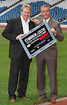 Frank McAvennie and Frank McGarvey at Hampden for ESPN's coverage of the St Mirren v Celtic match this weekend