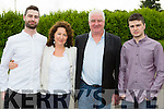 Cait Daly Principal of Curranes NS Castleisland with her family  as they celebrated her retirement at the school on Tuesday evening l-r: Sean, Mike, Cait and  Kevin Daly