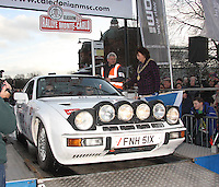Rick Pearson - Stuart Pringle in their Porsche 924 at the Start Ramp of the Rallye Monte Carlo Historique 2013 which started at the People's Palace, Glasgow on 26.1.13.