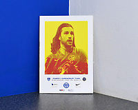 Christian Burgess of Portsmouth on the front of the match day programme during Portsmouth vs Shrewsbury Town, Sky Bet EFL League 1 Football at Fratton Park on 15th February 2020