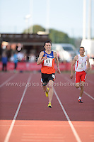 International athletics at Cardiff International stadium, Cardiff, South Wales - Tuesday 15th July 2014<br /> <br /> Alexander Carew(61) of Australia winning the Men's 400m final 'A' race. <br /> <br /> <br /> Photo by Jeff Thomas Photography
