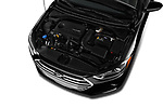 Car stock 2018 Hyundai Elantra ECO 4 Door Sedan engine high angle detail view