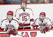 Sean Malone (Harvard - 17), Seb Lloyd (Harvard - 15), Clay Anderson (Harvard - 5) - The Harvard University Crimson defeated the visiting Rensselaer Polytechnic Institute Engineers 5-2 in game 1 of their ECAC quarterfinal series on Friday, March 11, 2016, at Bright-Landry Hockey Center in Boston, Massachusetts.