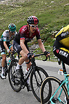 Geraint Thomas (WAL) Team Ineos and Emanuel Buchmann (GER) Bora-Hansgrohe climb the Col d'Iseran during Stage 19 of the 2019 Tour de France originally running 126.5km from Saint-Jean-de-Maurienne to Tignes but cut short to 88.5 km, France. 26th July 2019.<br /> Picture: John Pierce/PhotoSport Int | Cyclefile<br /> All photos usage must carry mandatory copyright credit (© Cyclefile | John Pierce/PhotoSport Int)