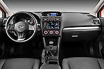 Straight dashboard view of a 2012 Subaru XV Executive SUV