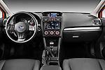 Straight dashboard view of a 2012 Subaru XV Executive SUV